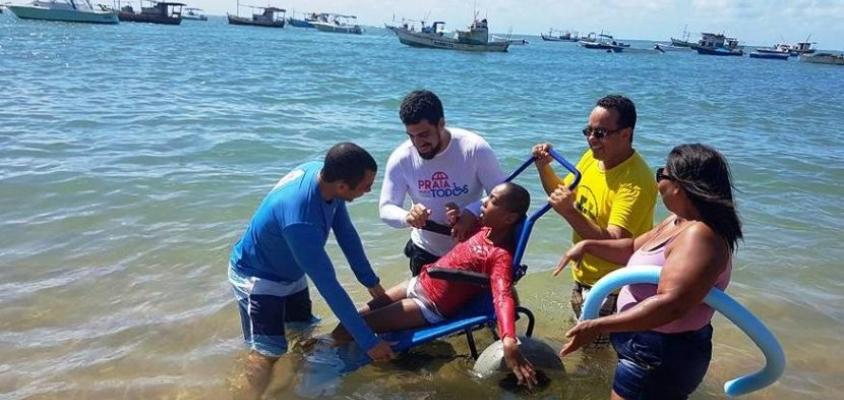 Praia do Forte e Imbassaí recebem projeto de acessibilidade
