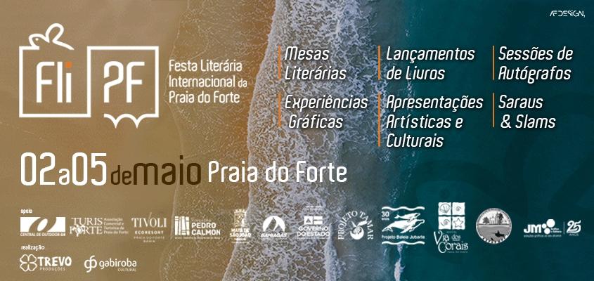 Primeira Festa Literária Internacional da Praia do Forte acontecerá em maio deste ano