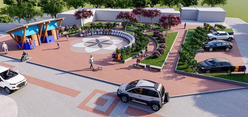 Rua de Praia do Forte ganhará nova praça, jardins e iluminação.
