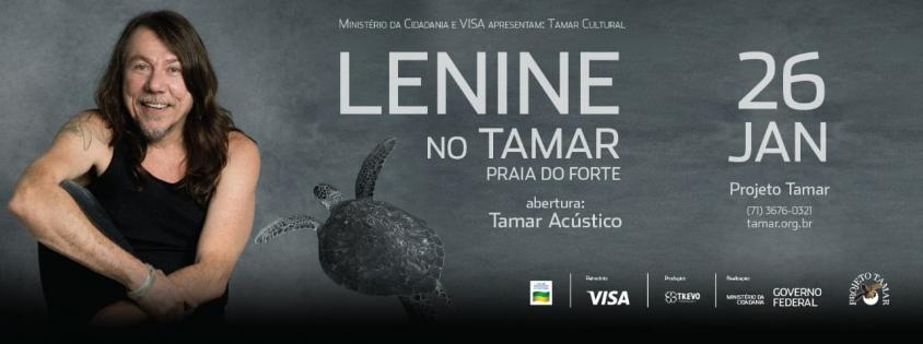 TAMAR CULTURAL traz Lenine para Praia do Forte próximo dia 26 de janeiro
